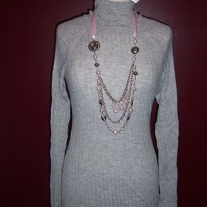 Mossimo Light Weight Gray Turtle neck Sweater